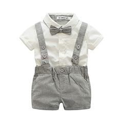 Baby Jungen Kleidung Sets Baby Fliege + weißes Hemd + kurzer Overall / set… Baby boys clothing sets baby bow tie + white shirt + short jumpsuit / set newborn clothes gray belt pants Baby Outfits Newborn, Baby Boy Newborn, Toddler Outfits, Baby Boy Outfits, Kids Outfits, Baby Boys, Infant Boys, Kids Boys, Toddler Boys