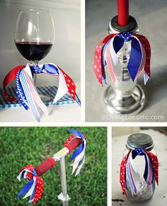 Dollar Decorating Idea...these are just a few things you can do with ponytail holders