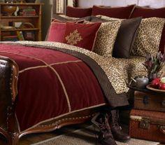 Ralph Lauren Venetian Court Burgundy Velvet Jacquard KING Duvet Cover #duvet #ralphlauren #bedding #bedroom