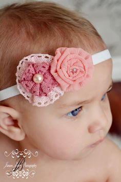 Baby Headbands - Toddler Headbands - Flower Headband, via Etsy.
