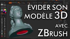 ZBrush propose de nombreux outils très pratique pour préparer un modèle pour l'impression 3D grâce en particulier au DynaMesh, capable d'évider un modèle. Pl...