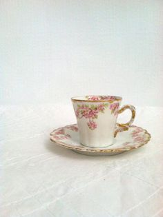 Limoges/France Tea Cup and Saucer