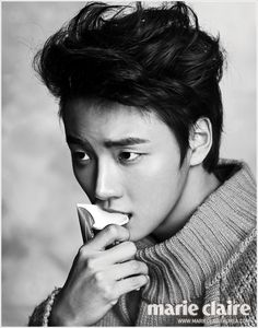 A Simply Handsome Yoon Si Yoon For February's Marie Claire Korea Korean Actresses, Asian Actors, Korean Actors, Actors & Actresses, Korean Men, Park Hae Jin, Park Seo Joon, Gq, Kdrama
