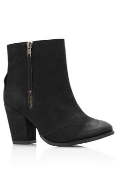 Buy Black Zip Block Heel Boots from the Next UK online shop