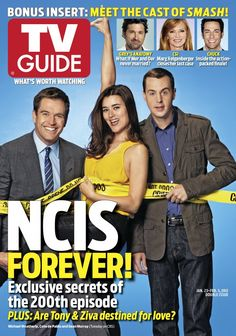 January 23, 2012. Michael Weatherly, Cote de Pablo and Sean Murray of NCIS
