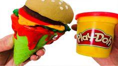 How To Make Hamburger Ice Cream With Play Doh Original Creation Funny DIY