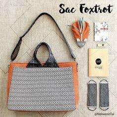 Nolwenn Tal sur Instagram: Mon sac porte-documents Foxtrot . Je me suis cousue un sac Foxtrot de la marque @patrons_sacotin . Un modèle très complet et extrêmement…