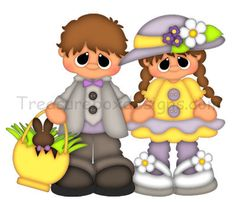 Lil Kiddles (Easter) - Treasure Box Designs Patterns & Cutting Files (SVG,WPC,GSD,DXF,AI,JPEG)