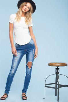 Rowland Hi-Waisted Skinny Jeans