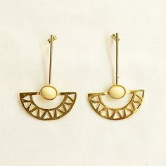 Crafted golden earrings with blue stone signature by Lijewellery