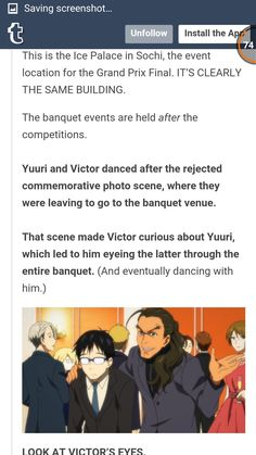 *MIND BLOWN*... look at Viktor's eyes? What about Yurio? XD