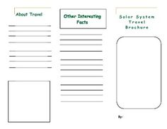 printable travel brochure template for kids