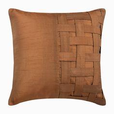 Gold Brown Art Silk Throw Pillow Cover, Gold Brown Bricks – The HomeCentric