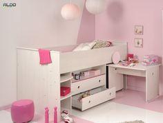 Multirunkční postel Smoozy s růžovými doplňky