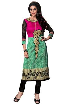 #Green And #Pink #Silk #Kurti  #Green And #Pink #Silk #Resham #Embroidery #Kurti.#Product #colour & #Patch Patta.  INR: 1,040.00  With Exclusive Discounts.   Grab: http://tinyurl.com/gqsvdsv