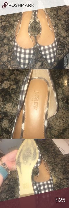Gingham Flats JCrew Factory gingham flats J.Crew Factory Shoes Flats & Loafers