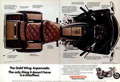 Honda Gold Wing 1982 (Usa) my grandpa bought one of these and he had a wreck when I was riding with him. No one was hurt Goldwing Trike, Motorcycle Manufacturers, Motorcycle Design, Honda Motorcycles, Royal Enfield, Sidecar, Kustom, Scrambler, Drag Racing