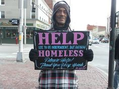 Signs for the Homeless | From up North