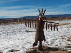 Eagle Dancer Kachina  Yard Art   Southwestern Art  Scrap Art
