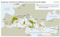 Expansion maritima en el Mediterráneo de la Corona de Aragón