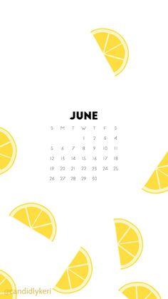 Lemon fun lemonade June 2016 calendar wallpaper free download for iPhone android or desktop background on the blog!