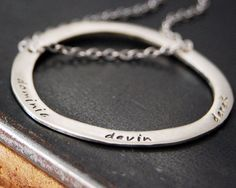 Circle of My Life Custom Name Necklace