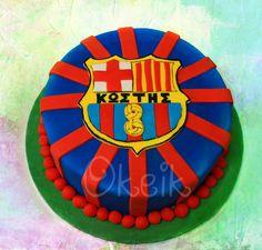 Soccer cake - Barcelona cake