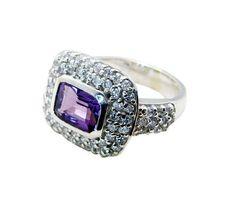 silver Ring Amethyst Ring Purple silver Ring 925 Amethyst Ring Gemstone Ring 925 Filigree Ring Engagement Ring SRAME6-2070 by RiyoGems
