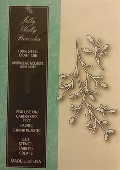 99317 Memory Box 100% Steel Craft Die Jolly Holly Branches