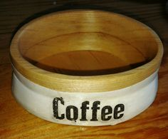 Wooden container for coffee grinder.