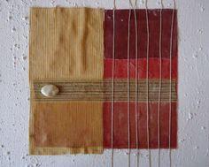 """Quadro astratto, informale, materico minimalista- Titolo: """"Pioggia 3""""- cm 40x40x4"""