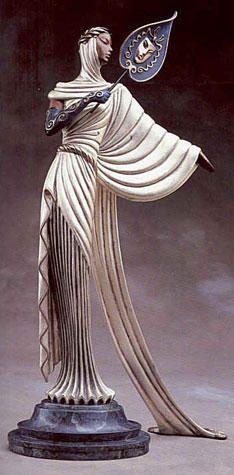 Tanagra Bronze Sculpture 1988 by  Erte, Sculpture, Bronze Sculpture