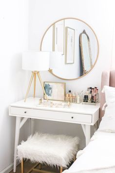 Bedroom Makeover Reveal Money Can Buy Lipstick - # Can . - Bedroom Makeover Reveal Money Can Buy Lipstick - Bedroom Apartment, Home Bedroom, Girls Bedroom, Trendy Bedroom, Mirror Bedroom, Bedroom Furniture, Bedroom Decor For Small Rooms, Budget Bedroom, Furniture Dolly