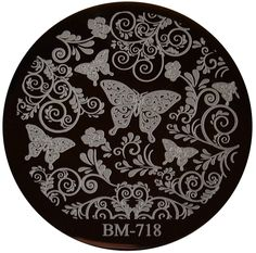 Image Plate #BM-718: Full Nail, Butterflies, Flowers by Bundle Monster (Ships Free, No Minimum)
