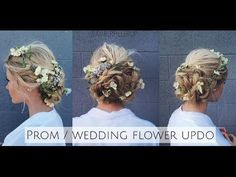 Prom/Wedding Braided Flower Up-do Inspired by Dolce & Gabbana Runway - YouTube