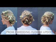 TUTORIAL | Prom/Wedding Braided Flower Up-do Inspired by Dolce & Gabbana Runway - YouTube