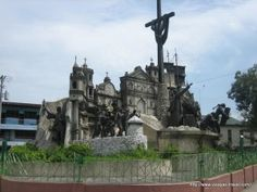 This monument, created in the late 20th century, celebrates highlights of Cebuano history and heritage, such as the first catholic baptism, the battle of Mactan (in which Ferdinand Magellan was killed), the major churches of Cebu, a Spanish galleon, and a catholic mass.