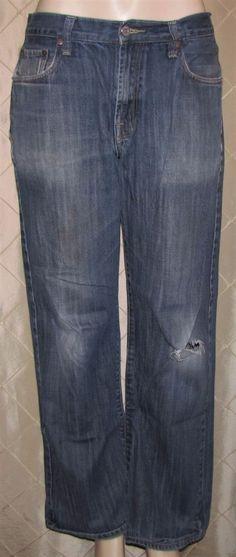 MEN'S LUCKY BRAND BLUE JEANS 32 X 31 BUCK STRAIGHT LEG USA MADE DYI #LuckyBrand #BuckStraightLeg