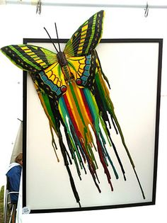 <3 melted crayons to the next level. i don't like the butterfly but i do like the colors