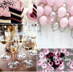 helium quality pearl latex balloons - matt light baby pink and silver pearl ct First Birthday Favors, Birthday Cheers, Happy Birthday Flower, Happy 2nd Birthday, Happy Birthday Cards, Birthday Wishes Greetings, Happy Birthday Wishes Images, Happy Birthday Quotes, Happy Cake Day