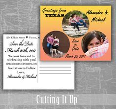 Save the Date Postcards, Greetings From Postcard, Photo Save the Date, Custom Picture, Destination Wedding, Welcome Card, DIY Template