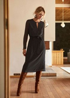 Cheap Formal Dresses, Pink Prom Dresses, Classy Outfits, Chic Outfits, Fashion Outfits, Winter Dress Outfits, Fall Dresses, Outfit Vestido Negro, Style Parisienne
