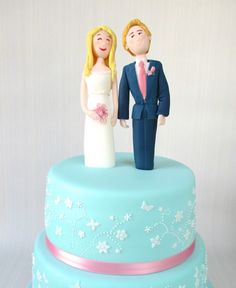 Katy Made Cakes | Wedding Cakes North London - Wedding Cake Topper Couple figures