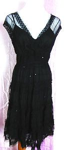 Max Studio size small gypsy tiered boho dress