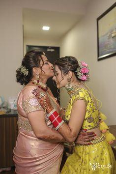Joyous Delhi Wedding With Bride & Groom Coordinating In Neon Yellow Bridal Poses, Bridal Photoshoot, Wedding Album, Bridal Fashion, Neon Yellow, Wedding Pictures, Bridal Style, Bride Groom, Brides