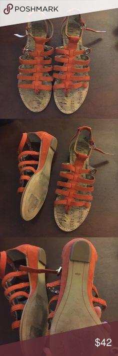 Sam Edelman Gladiator Sandals Suede rusty orange Sam Edelman gladiator sandals. Worn once. Sam Edelman Shoes Sandals