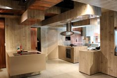 I love the wood in this kitchen!