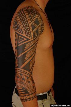 Polynesian Tribal Arm Tattoo