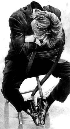Alan Rickman sitting on chair by michelleion.deviantart.com