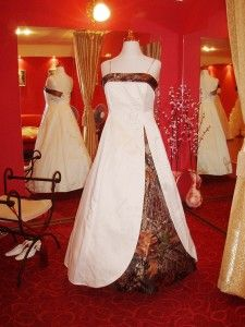 wedding dresses with camo